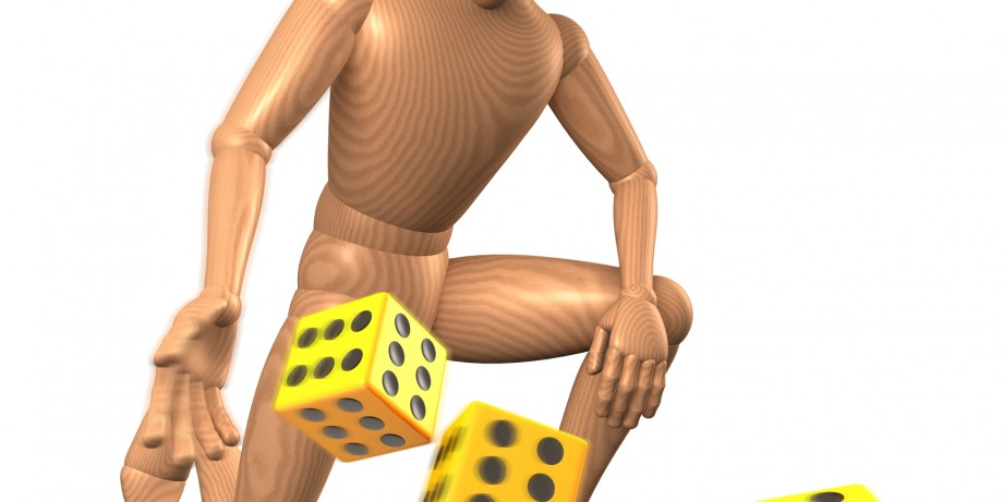 http://www.dreamstime.com/stock-images-man-throwing-dice-yellow-white-image31919354