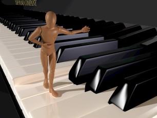 http://www.dreamstime.com/stock-image-presenting-welcoming-figure-walkin-piano-keyboard-rendering-illustration-image32085381
